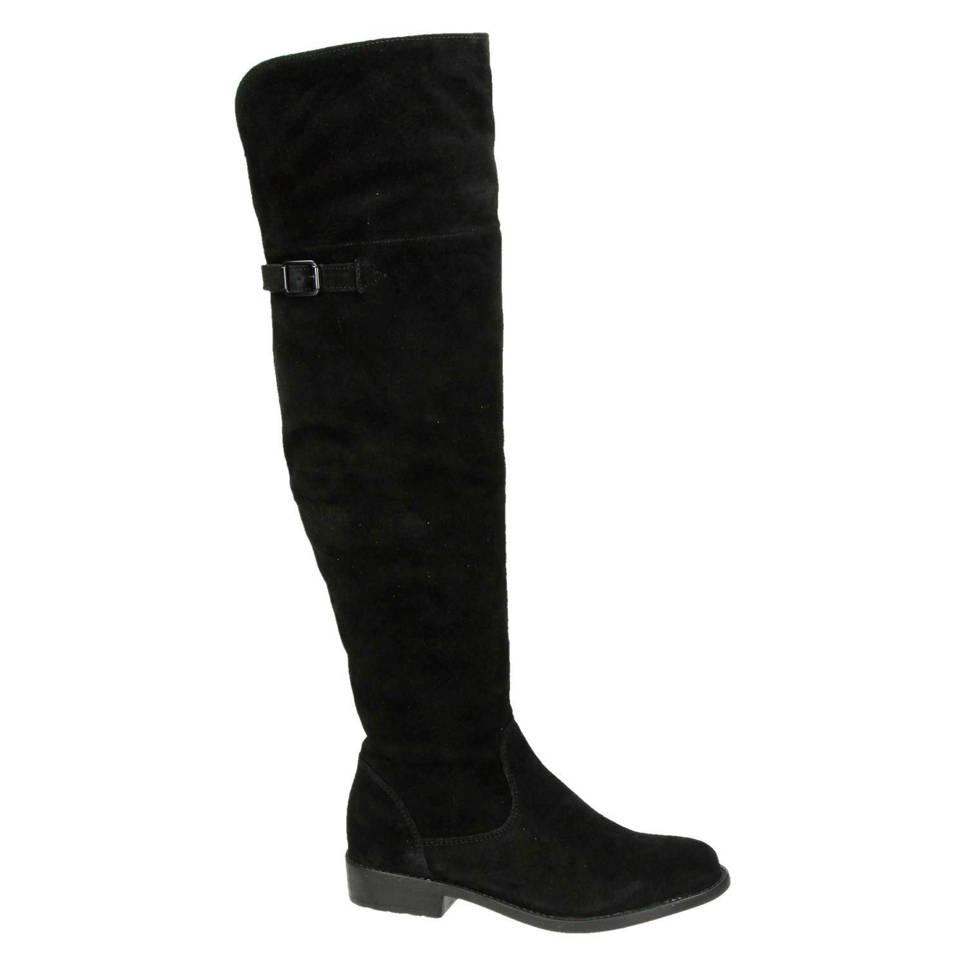 Tamaris suede overknee laarzen, Zwart