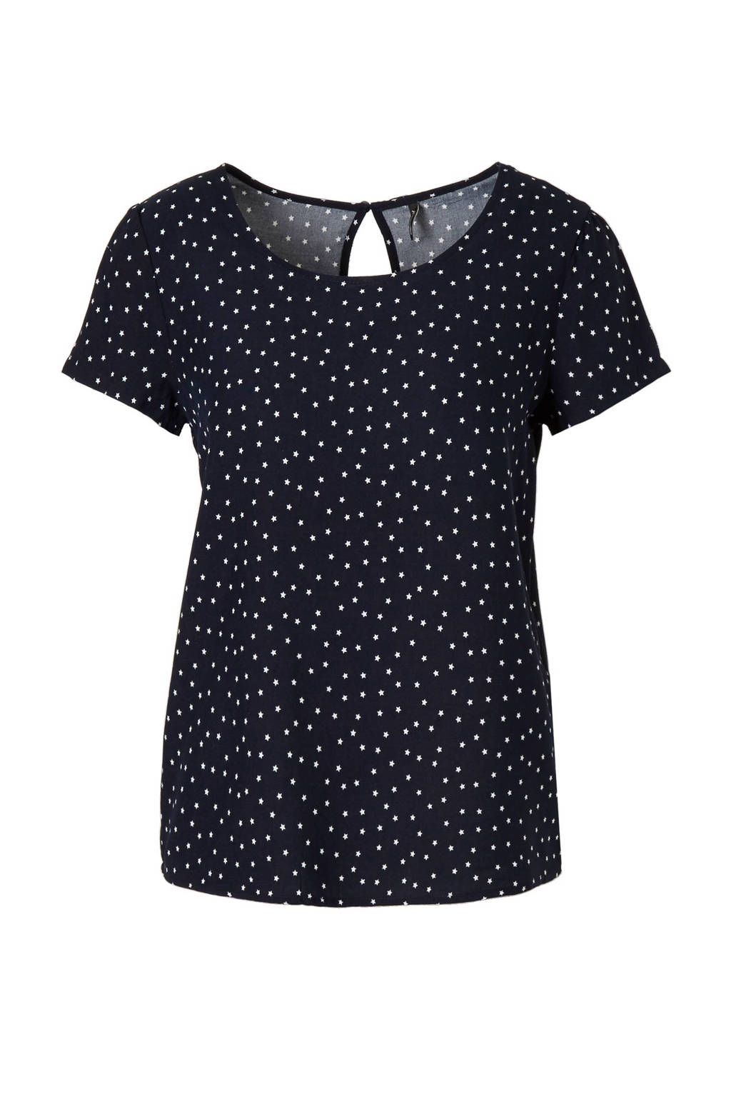 ONLY top, Donkerblauw/wit