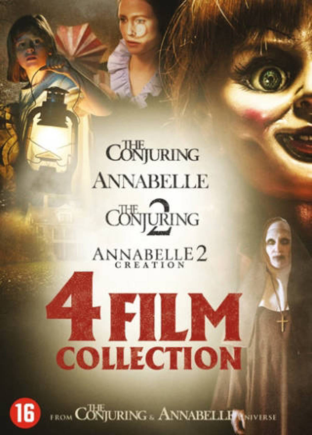 Annabelle 1&2 + Conjuring 1&2  (DVD)