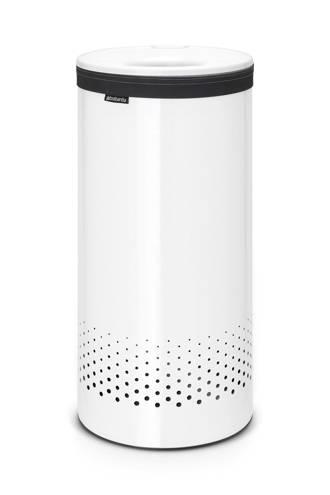 wasbox met kunststof deksel 35 liter - White/White
