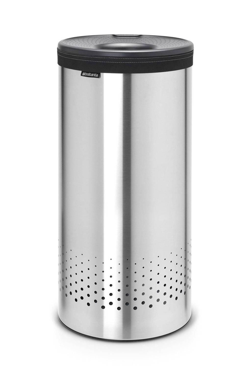 Brabantia wasbox met kunststof deksel 35 liter - Matt Steel/Cool Grey, Grijs;Roestvrijstaal