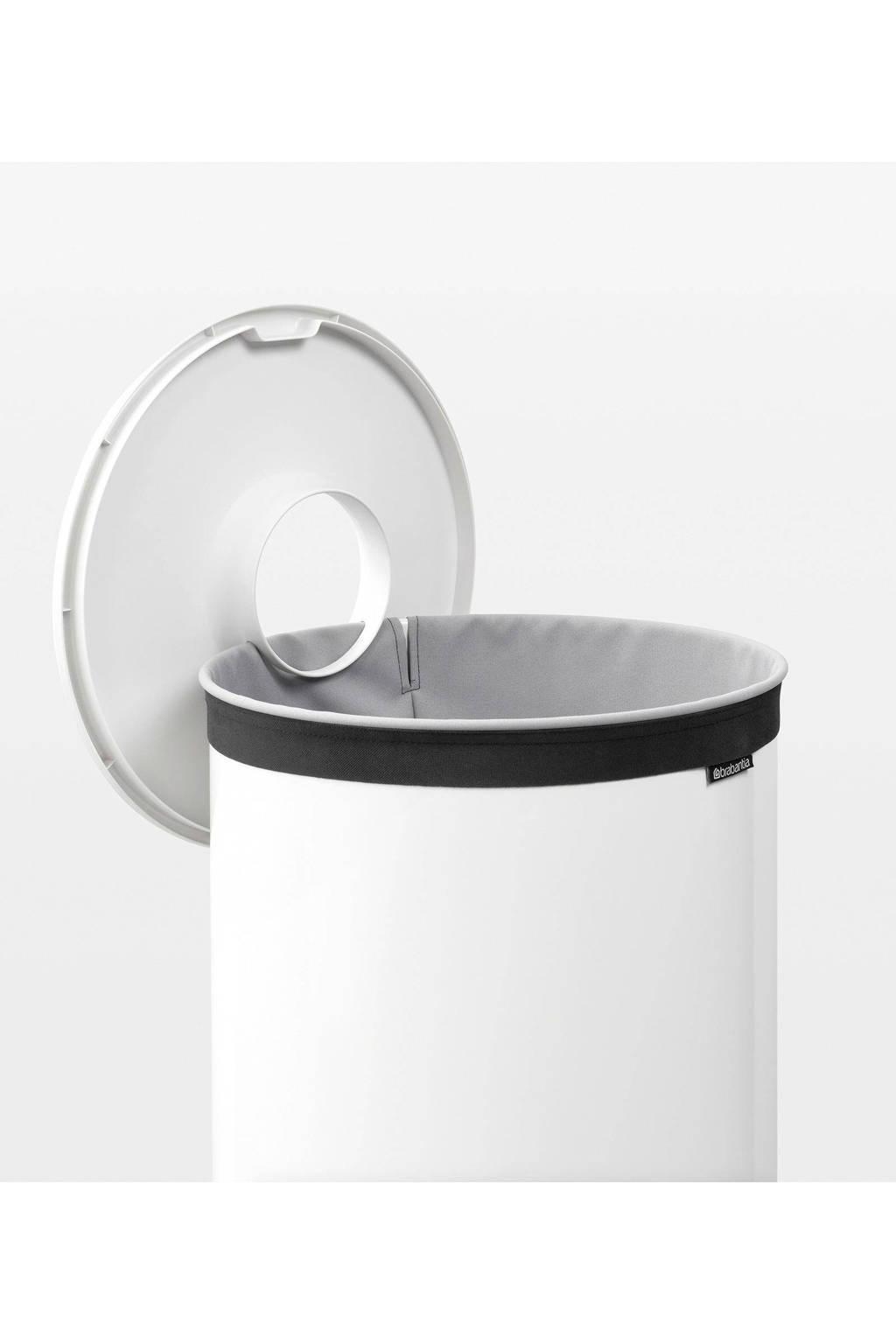 Brabantia Wasbox 50 Liter Matt Steel.Brabantia Wasbox Met Kunststof Deksel 60 Liter White Wehkamp