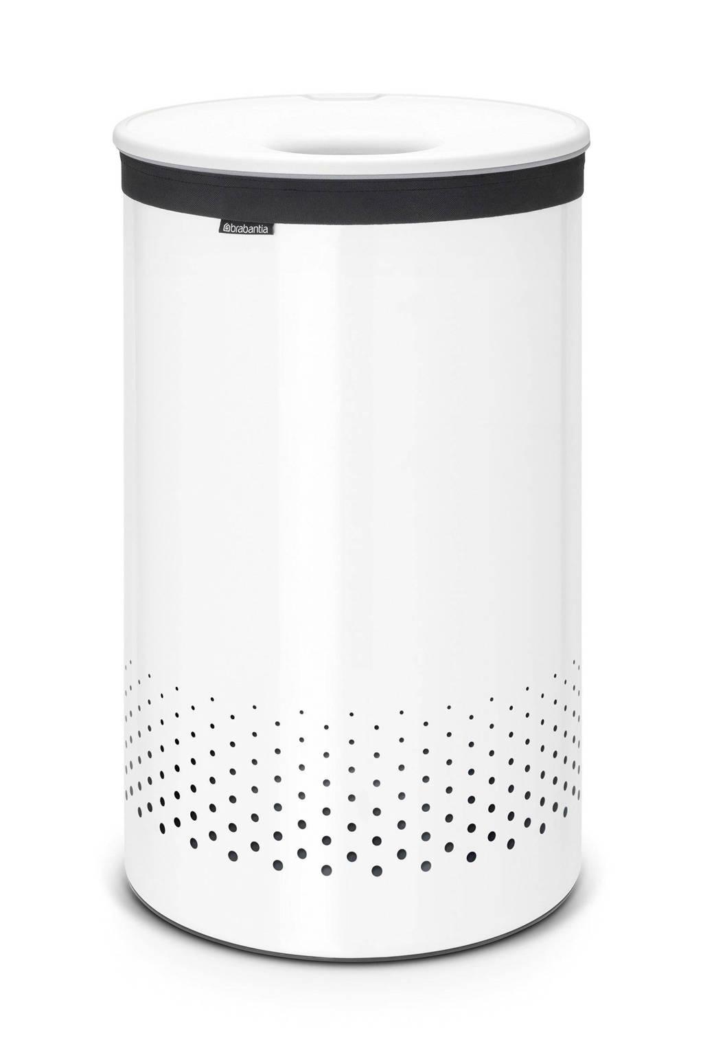 Brabantia wasbox met kunststof deksel 60 liter - White, Wit