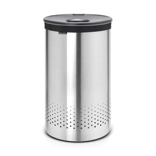 Brabantia wasbox met kunststof deksel 60 liter - Matt Steel kopen