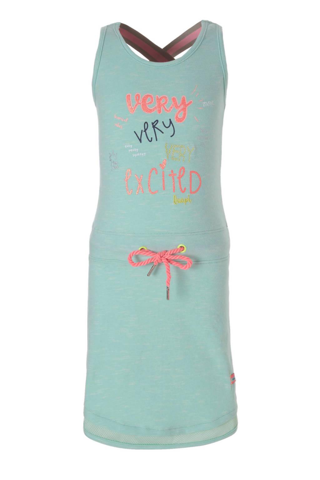 Quapi jurk, Mintgroen/neon roze