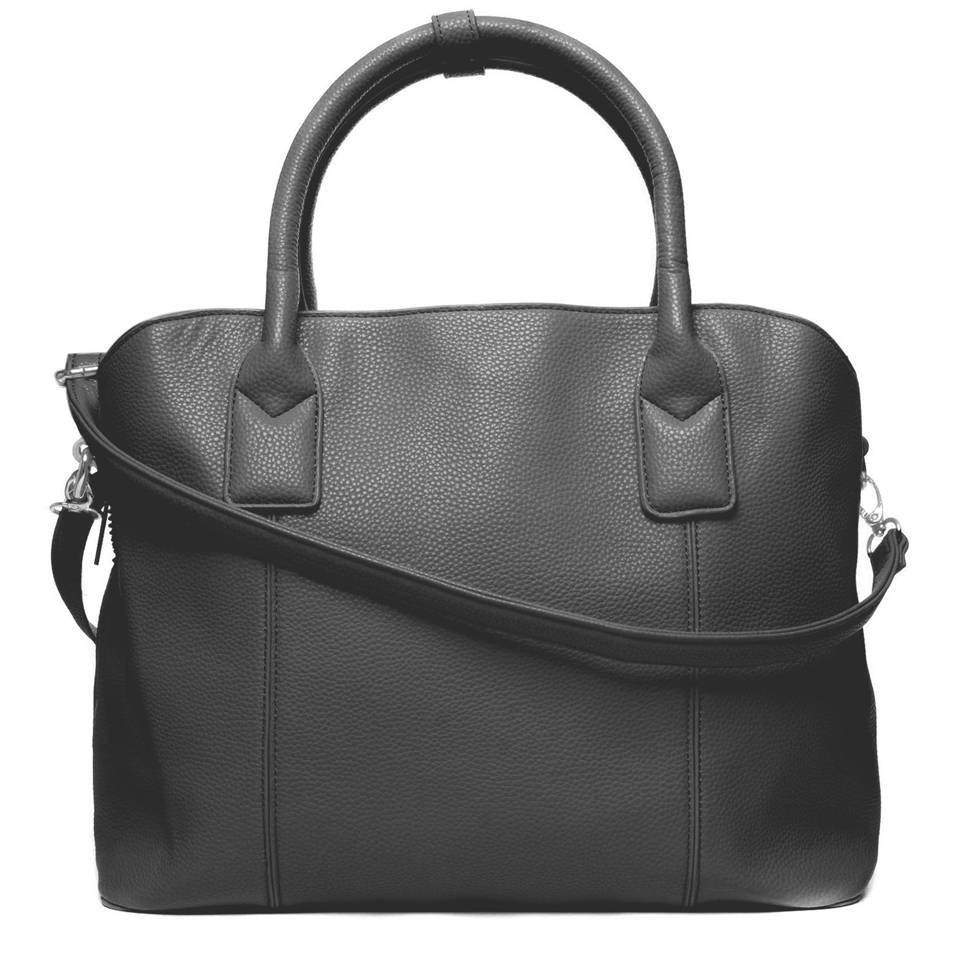 Sacha 15,4 inch laptop/handtas zwart, Zwart