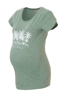 positie T-shirt met printopdruk en melée