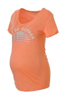 positie T-shirt met printopdruk en glitters