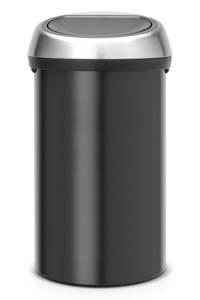 Brabantia Touch Bin 60 liter prullenbak, Mat zwart