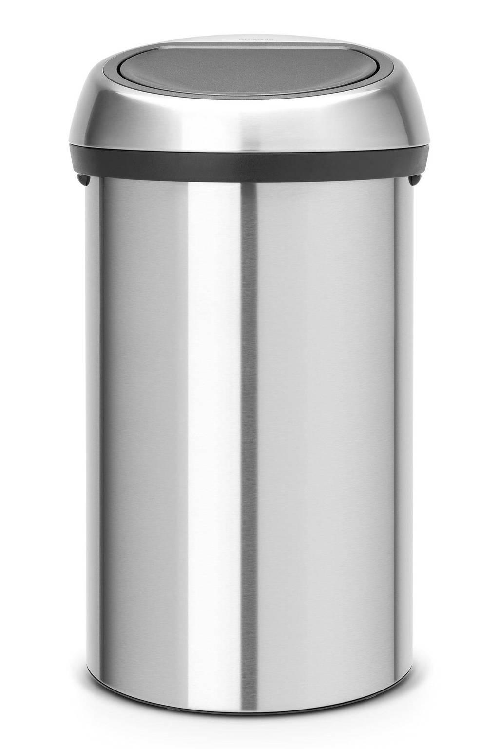 Brabantia Touch Bin 60 liter prullenbak, Staal