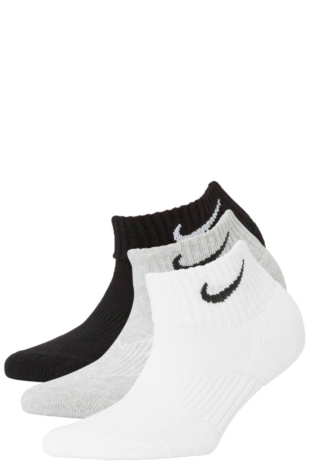 Nike   sportsokken (set van 3), Grijs/wit/zwart