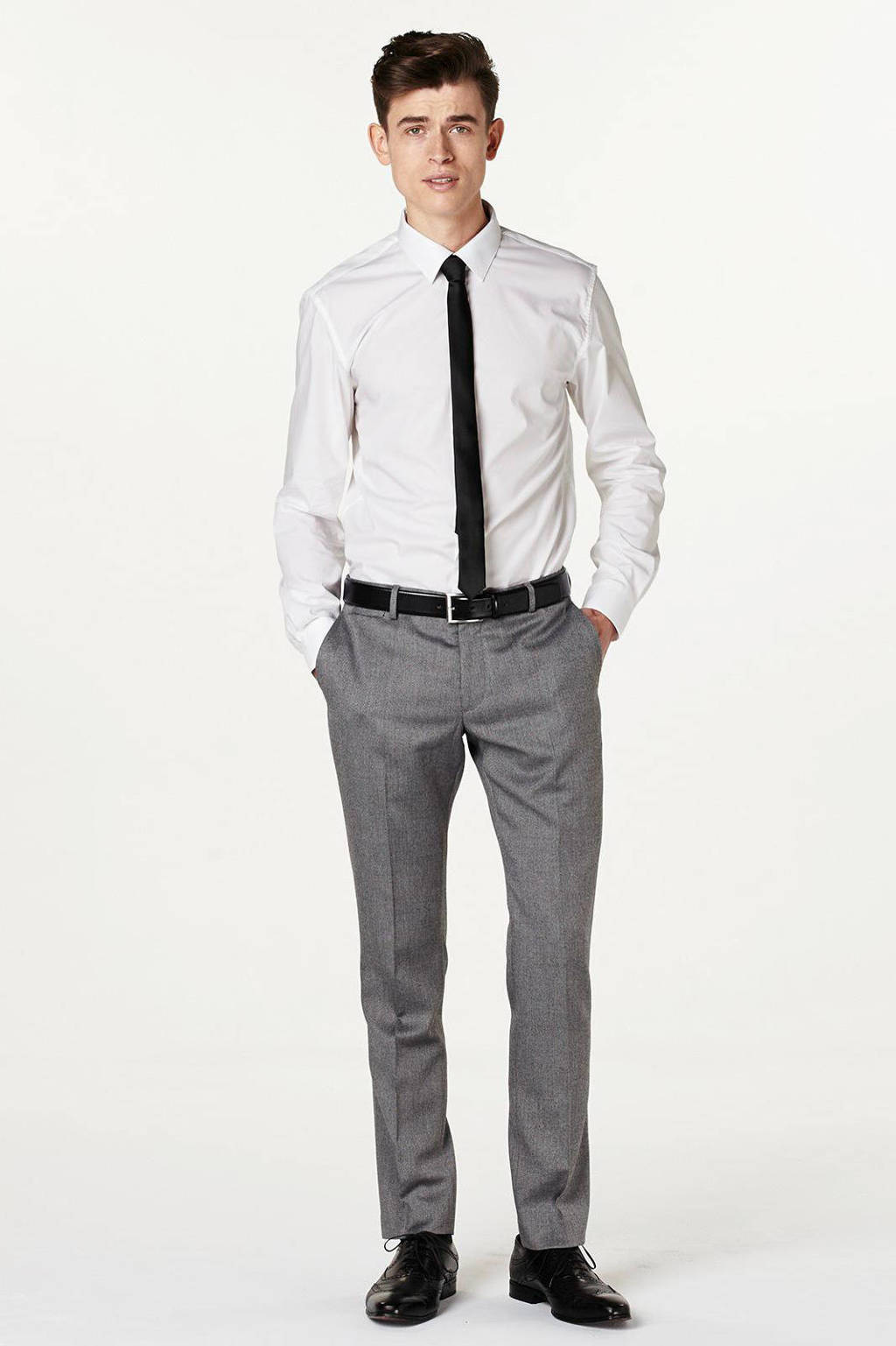 Matinique slim fit overhemd, Wit
