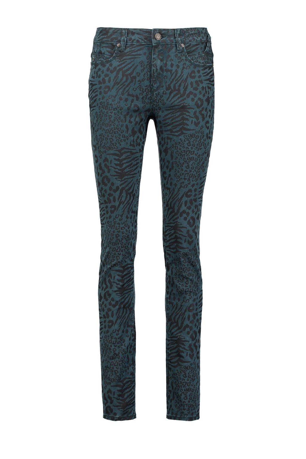 Claudia Sträter skinny fit broek, Petrol Green