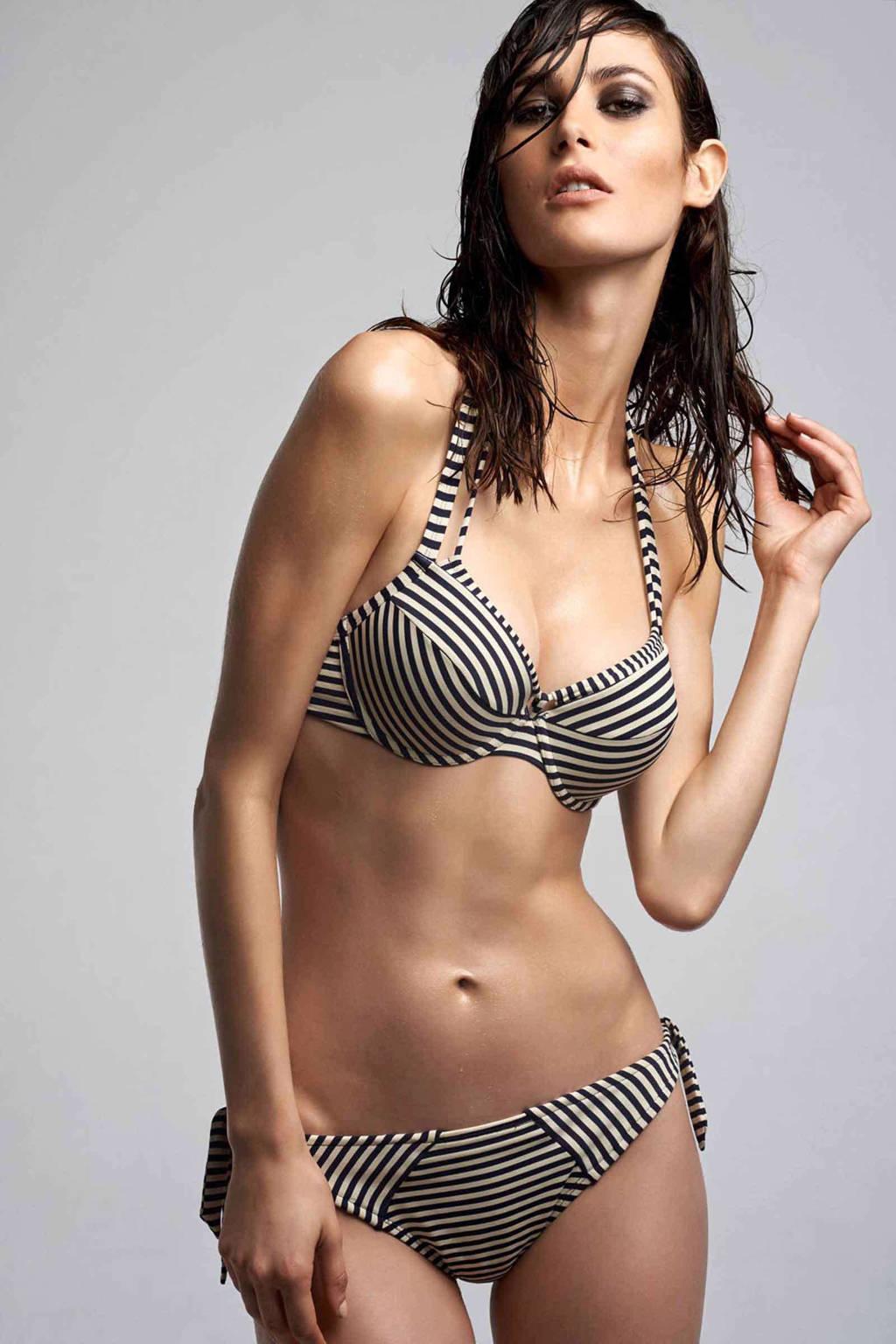 marlies dekkers beugel bikinitop holi vintage streep, Marine/ecru