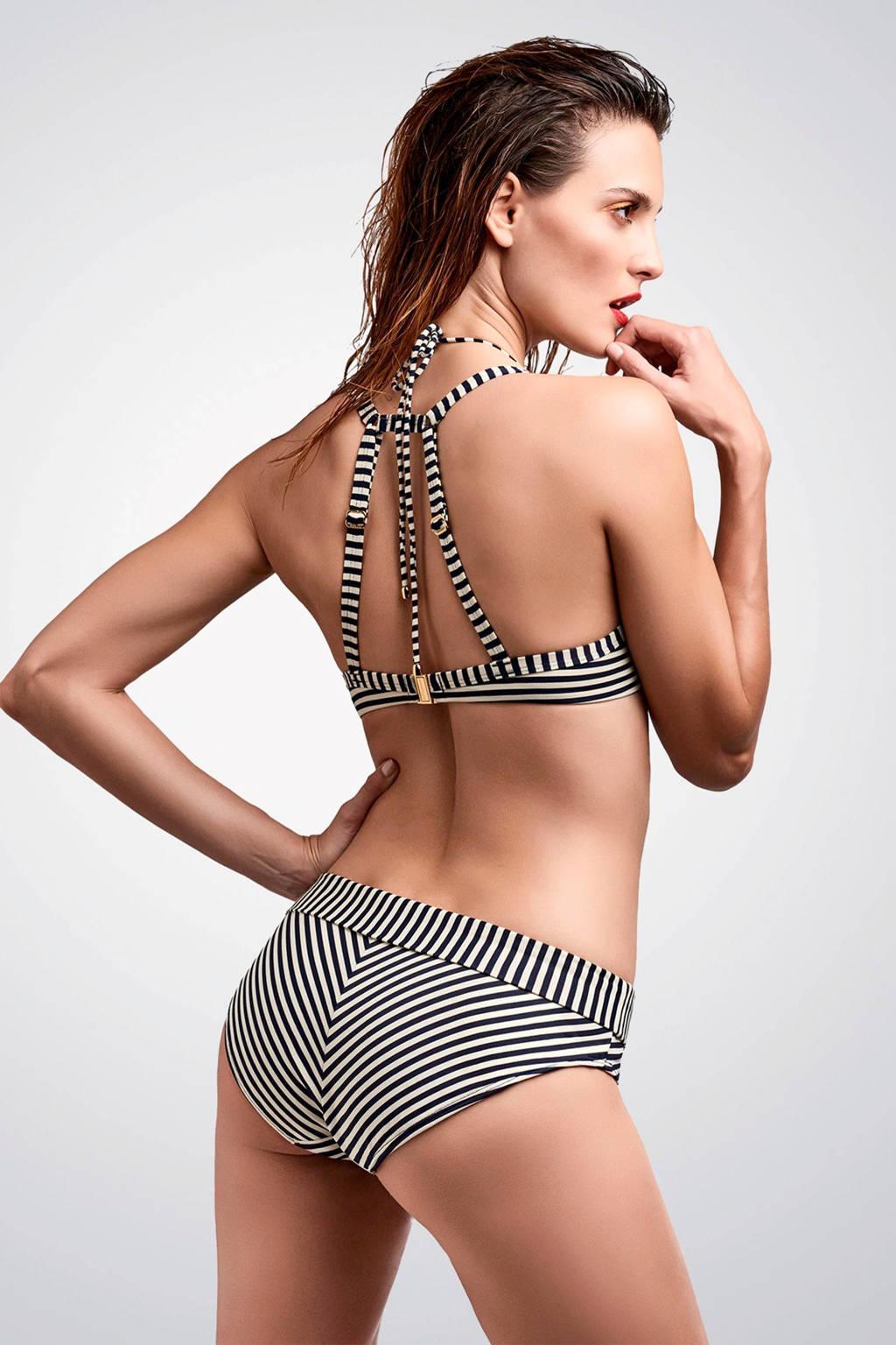 marlies dekkers omslag bikinibroekje holi vintage streep, Marine/ecru