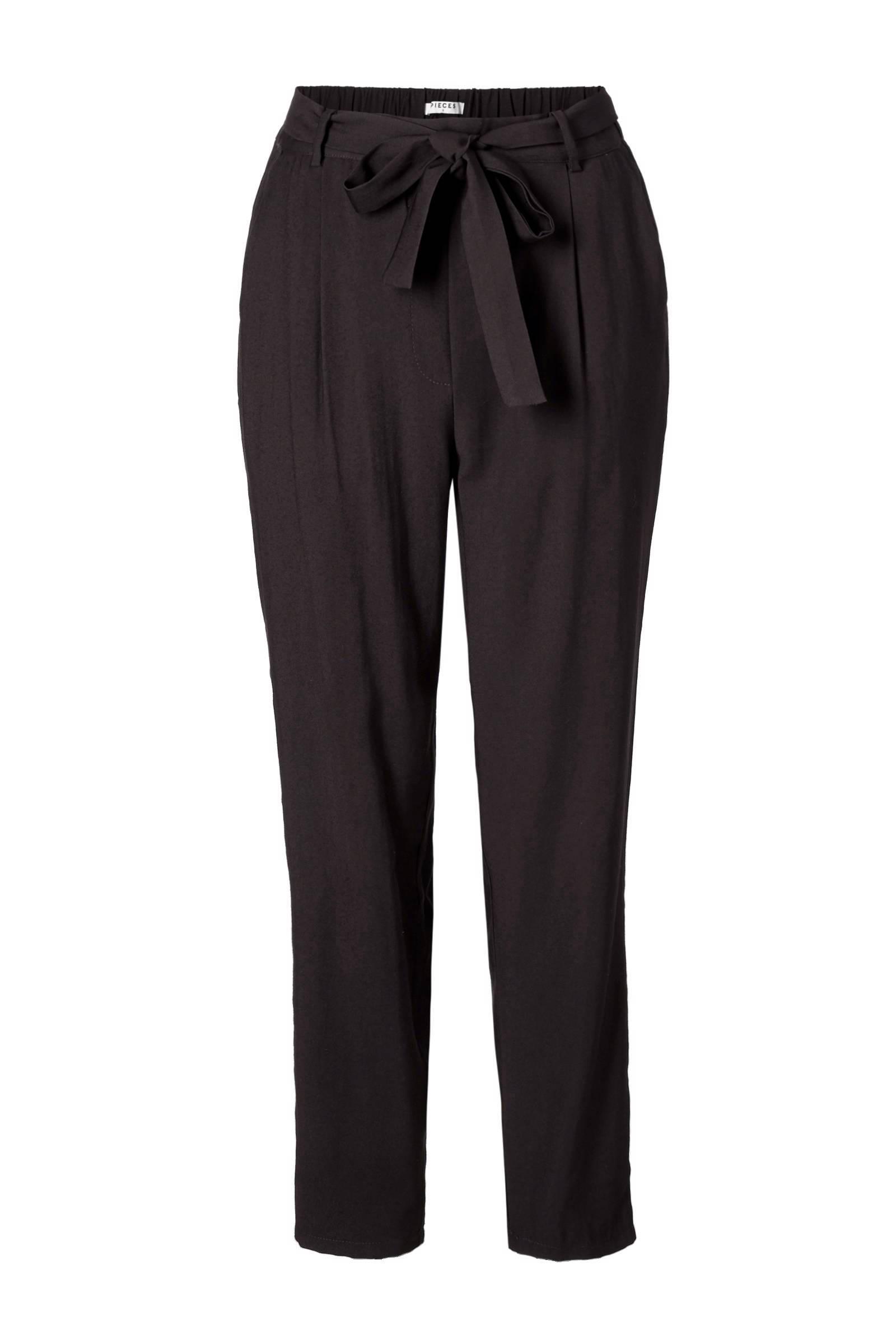 high waist broek zwart