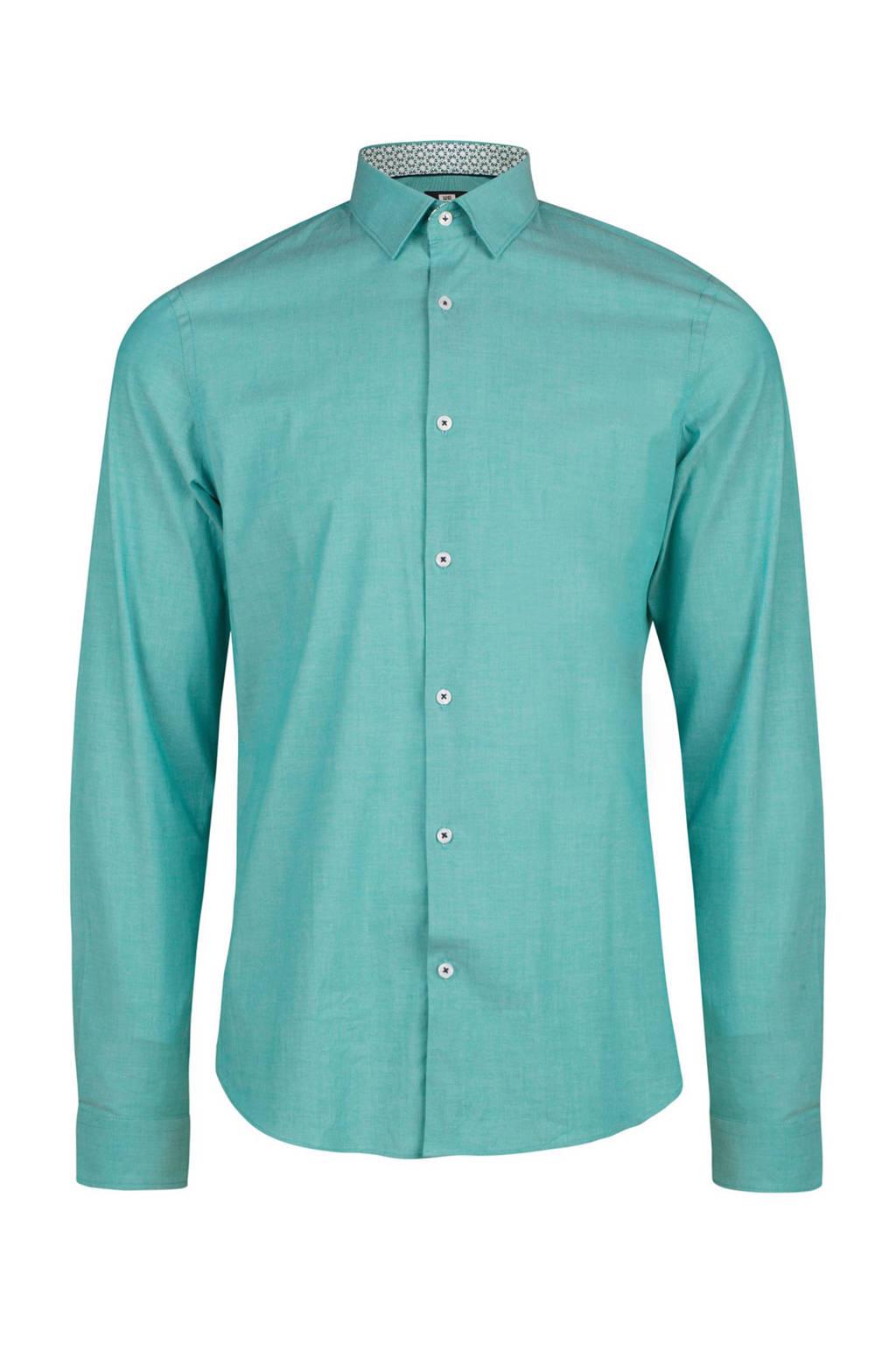 Mintgroen Heren Overhemd.We Fashion Slim Fit Overhemd Wehkamp