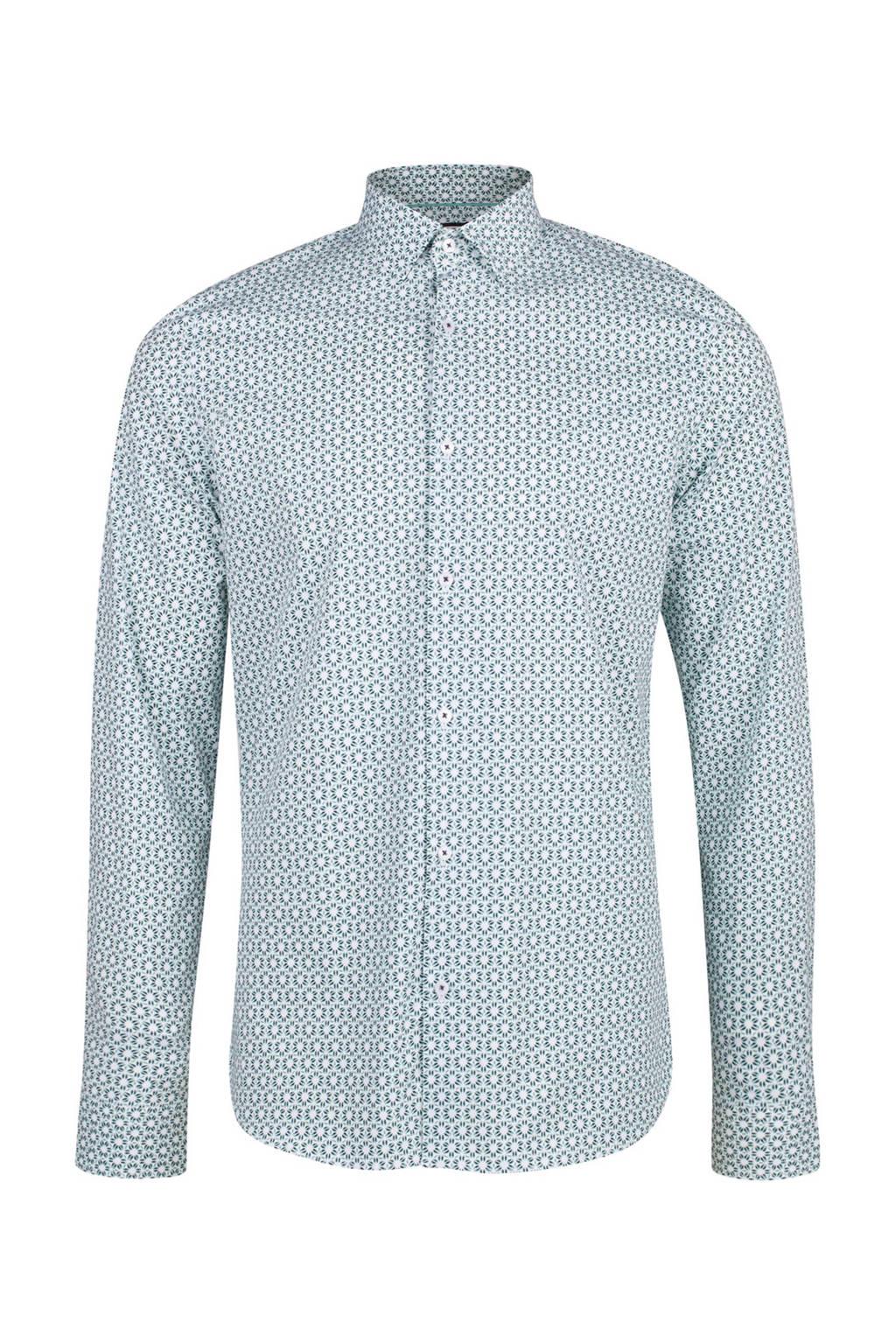 Overhemd Mintgroen.We Fashion Slim Fit Overhemd Mintgroen Wehkamp