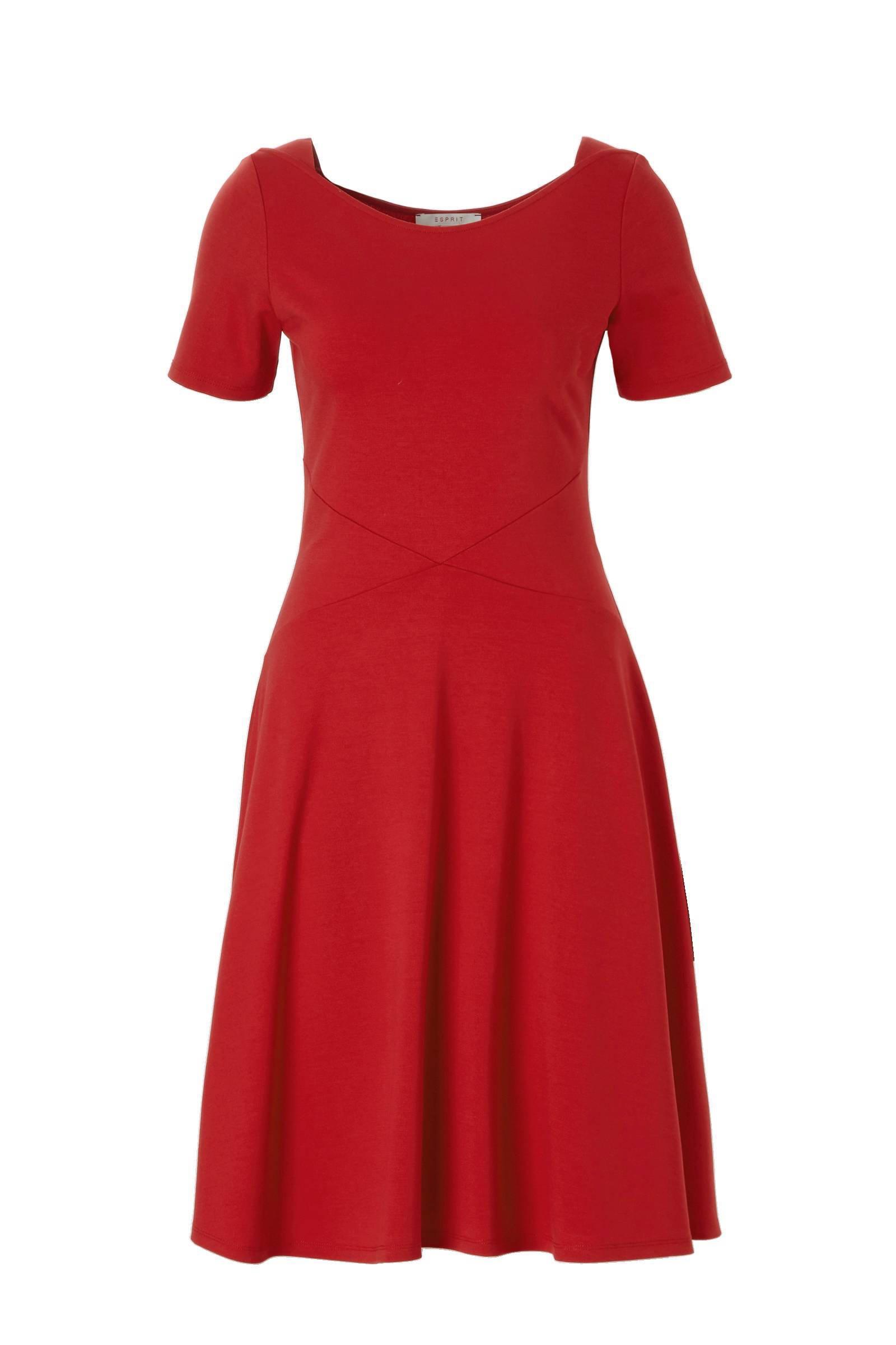 esprit jurk rood
