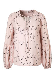 ESPRIT Women Casual blouse met vogelprint (dames)