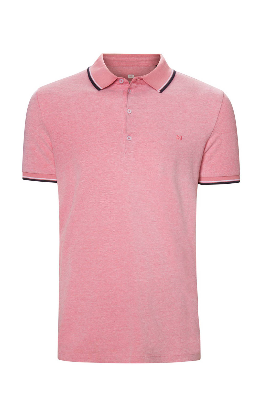 WE Fashion slim fit polo, Roze