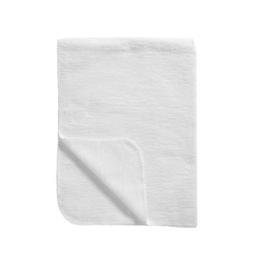 Meyco Katoenen deken uni wit 75x100 cm