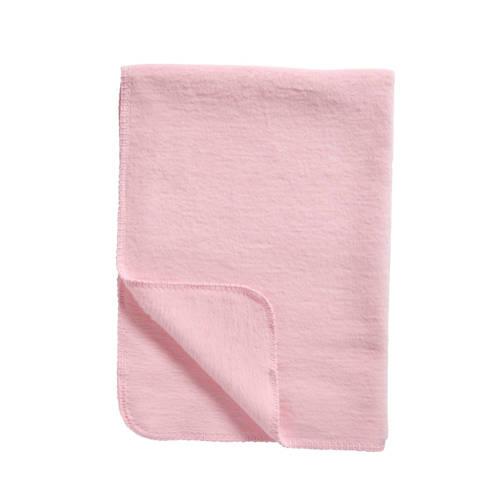 Meyco Katoenen deken uni lichtroze 75x100 cm
