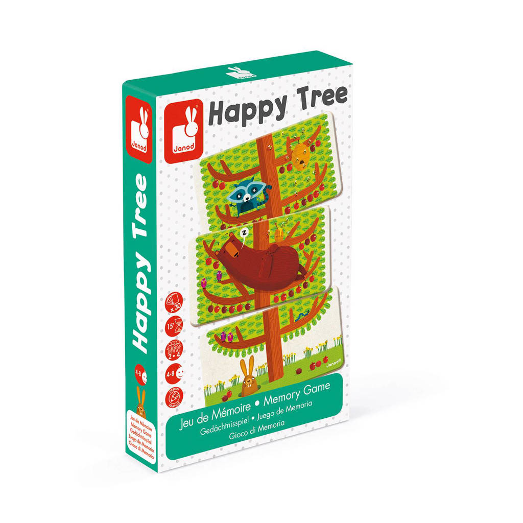 Janod Happy Tree geheugenspel kaartspel