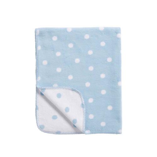 Meyco Katoenen deken Stip blauw-wit 75x100 cm