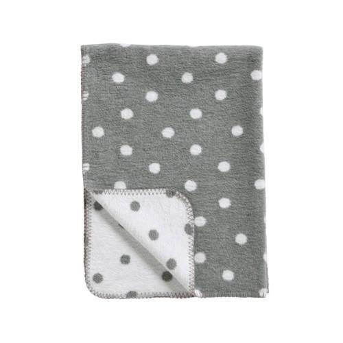 Meyco Katoenen deken Stip grijs-wit 75x100 cm