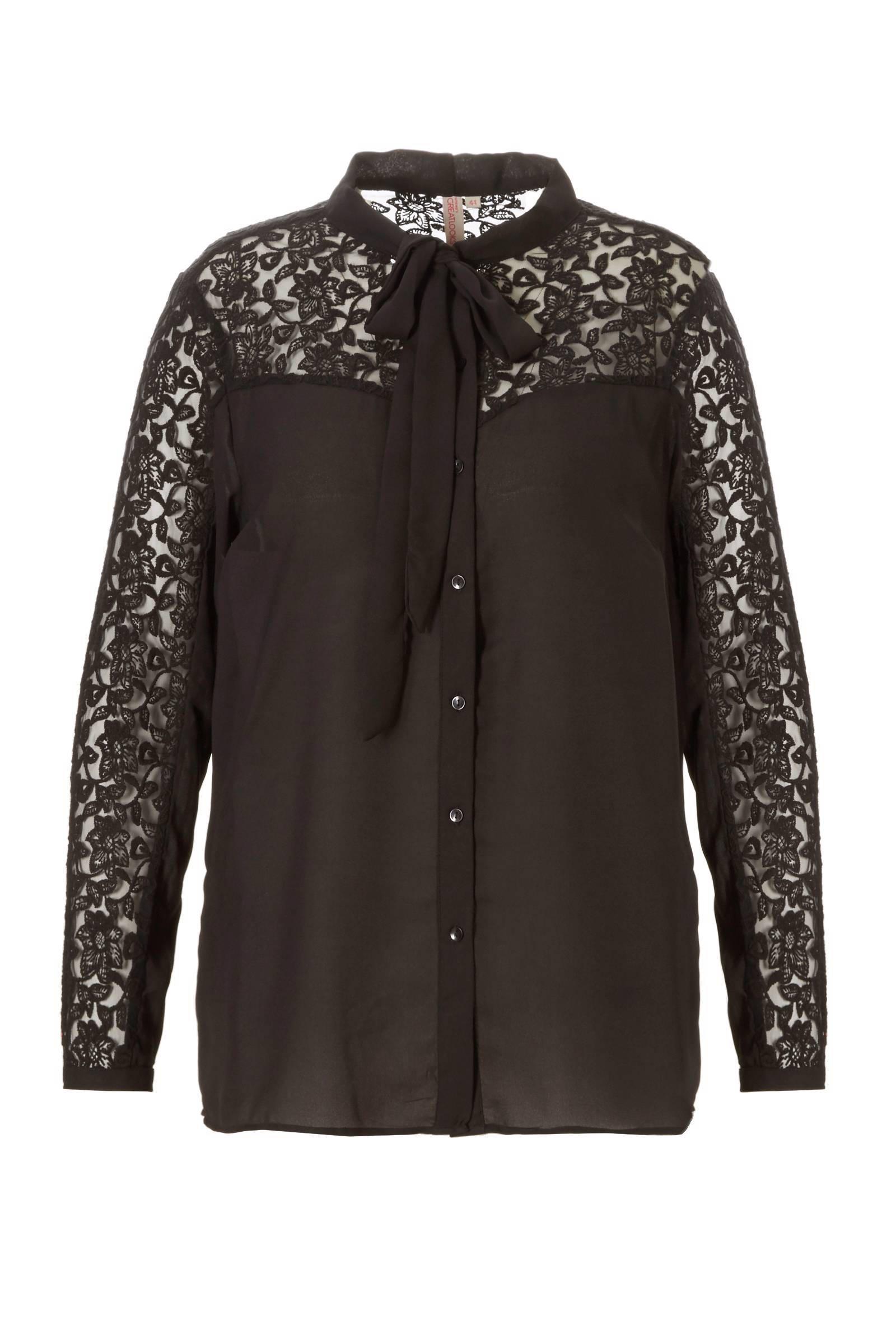whkmp's great looks blouse met kant (dames)