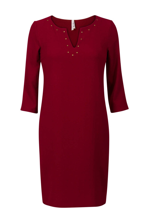 Miss Etam Regulier jurk met studs (dames), Donkerrood