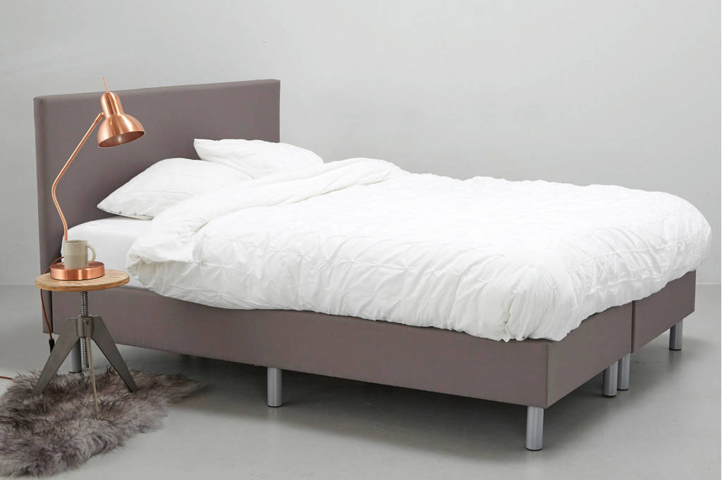whkmp's own complete boxspring Larvik (140x200 cm), Grijs