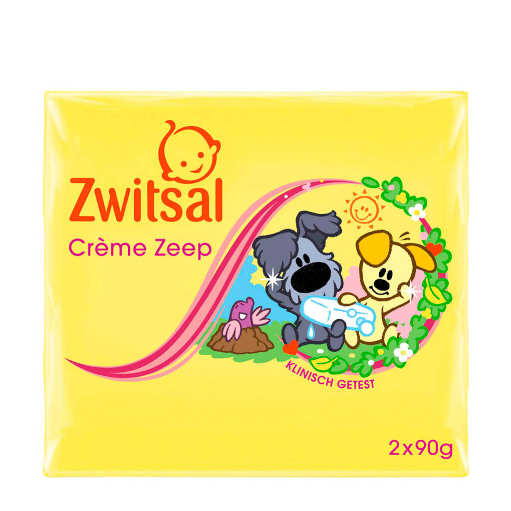 Zwitsal Woezel & Pip crème zeep tablet - 2x90 g - baby, 180 gram