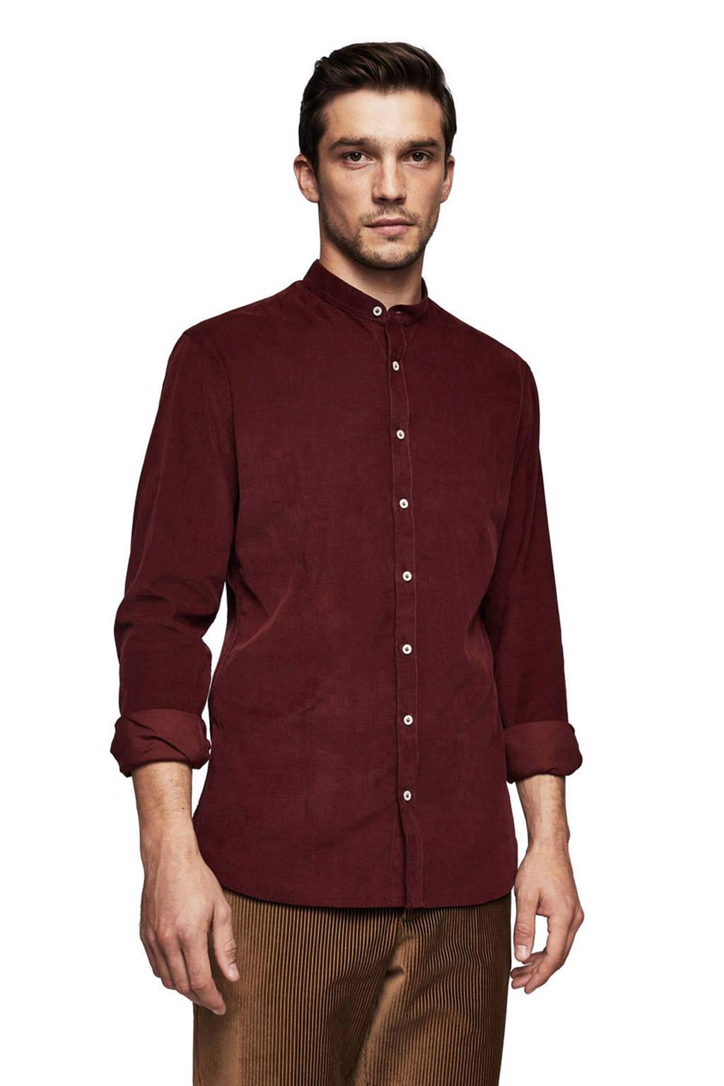 bespaar een grote verscheidenheid aan modellen 100% origineel corduroy slim fit overhemd