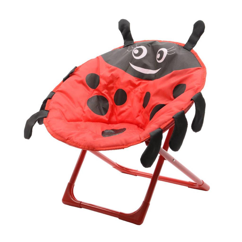 Decoris Kinder tuinstoel lieveheersbeestje, Rood