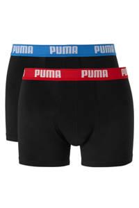 Puma boxershort (set van 2), Zwart/rood/blauw