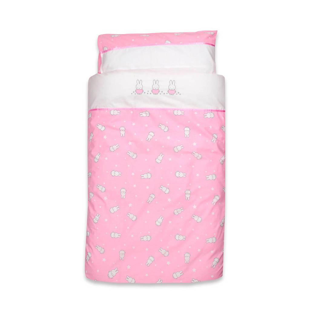 nijntje dekbedovertrek set 100x135 cm inclusief kussensloop old pink, Old Pink