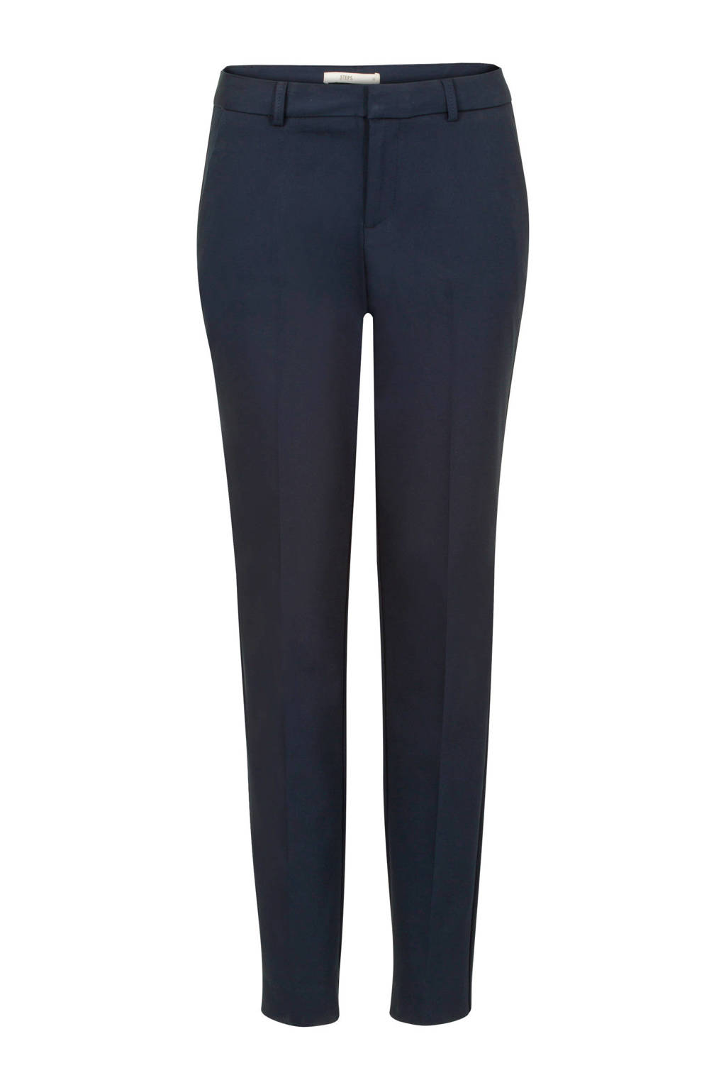 Steps cropped straight fit pantalon, Donkerblauw