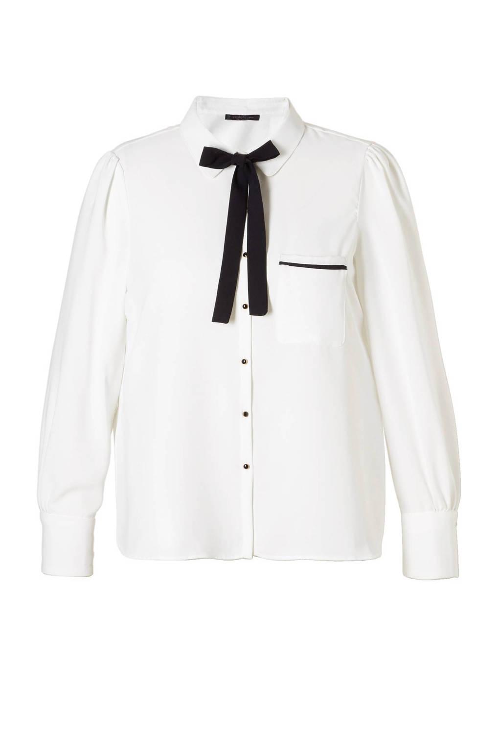 Violeta by Mango blouse, Wit/zwart