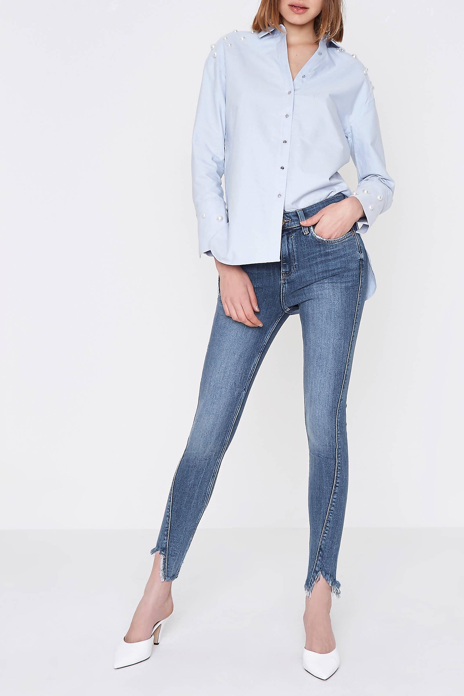 febf6fe08eac63 River Island super skinny jeans Amelie met gerafelde zoom   wehkamp
