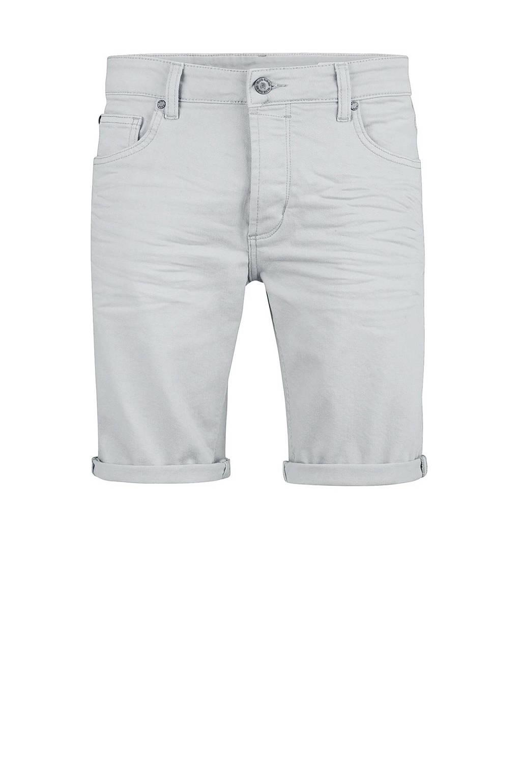 WE Fashion Blue Ridge regular fit jeans short grijsblauw, Grijsblauw