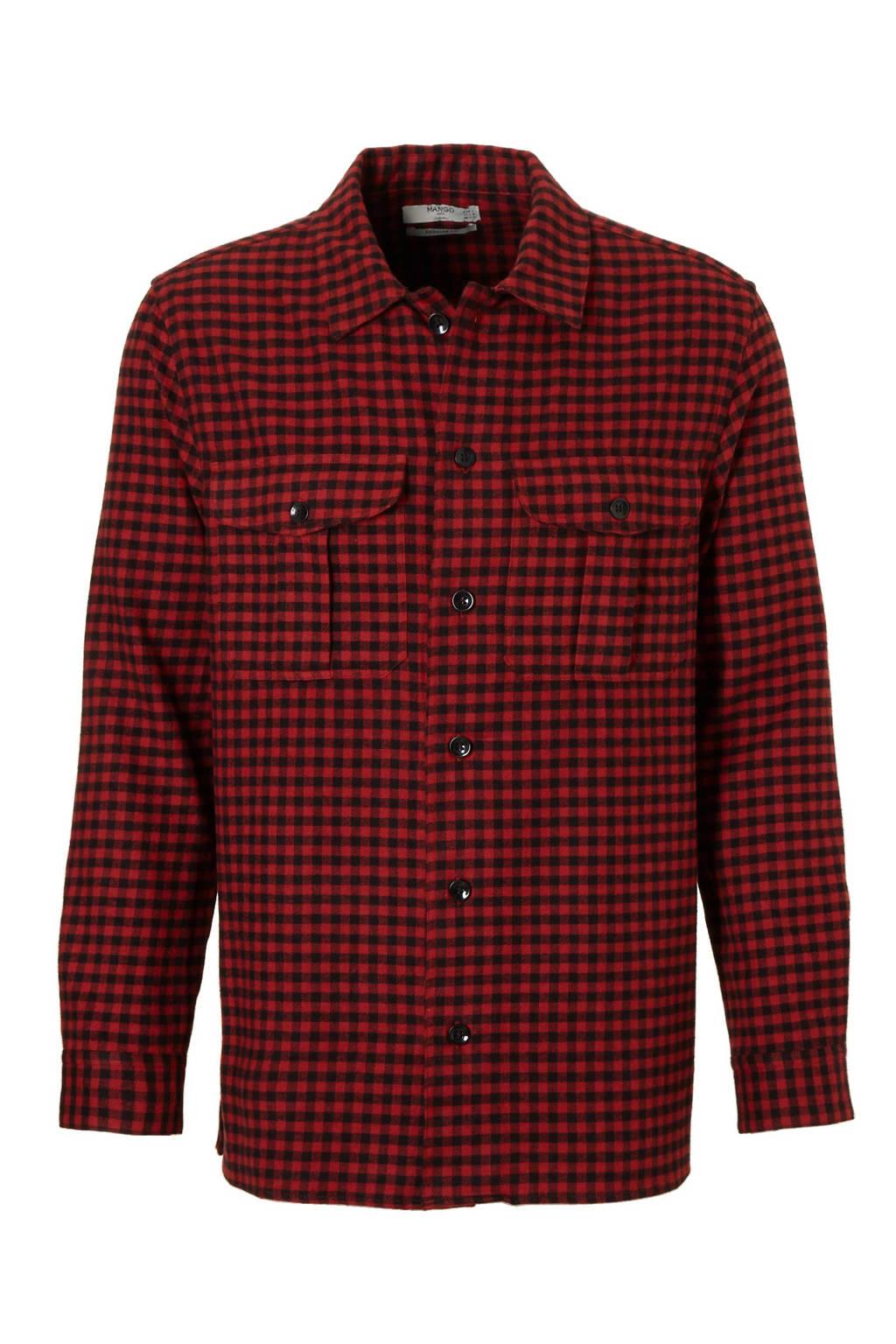 Overhemd Rood Zwart.Mango Man Flanellen Slim Fit Overhemd Wehkamp