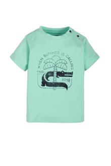 Zero newborn T-shirt Santo mintgroen