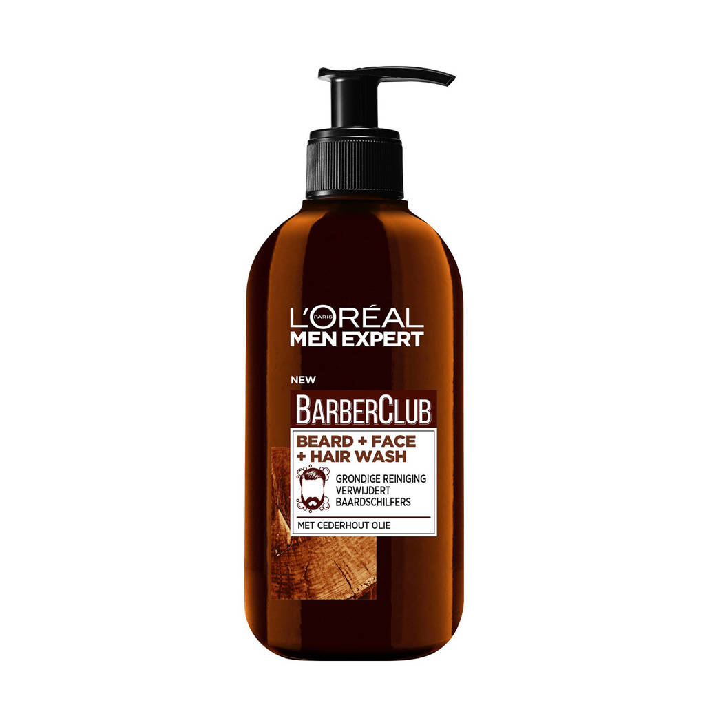 L'Oréal Paris Men Expert BarberClub Beard + Face + Hair Wash 200ml - baardshampoo
