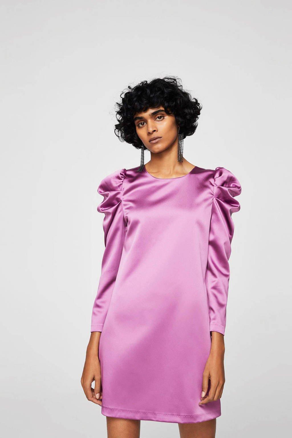 Mango satijnen jurk, Roze