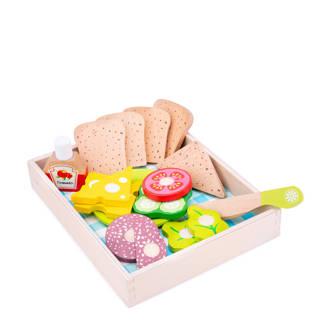 houten sandwich set