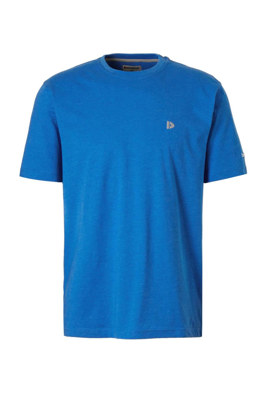 Donnay sport T-shirt hard blauw gemeleerd, Hard Blauw Gemeleerd