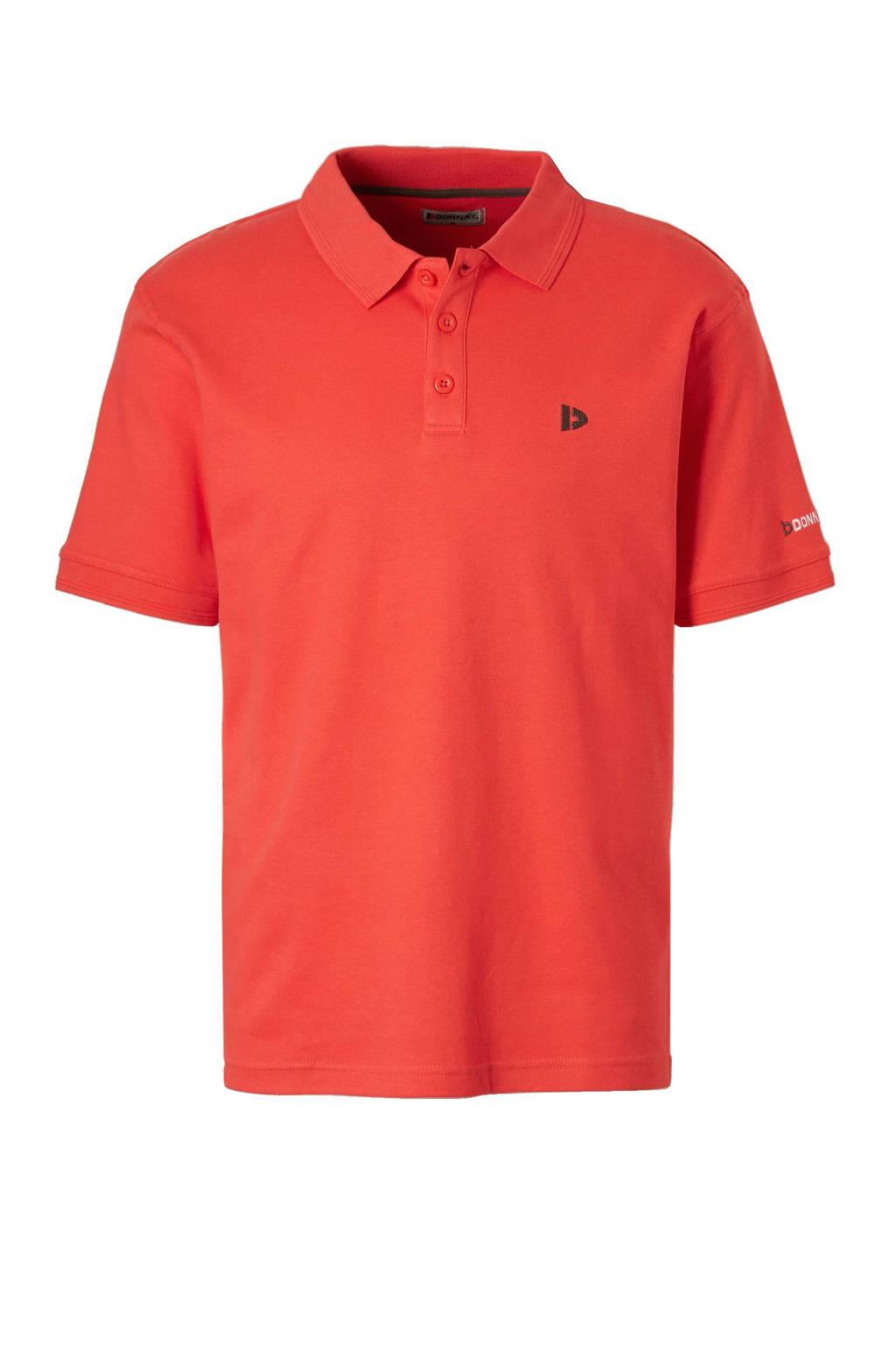 Donnay   sportpolo oranje, Koraalrood