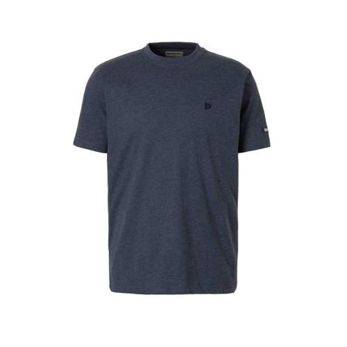 Donnay sport T-shirt donkerblauw gemeleerd